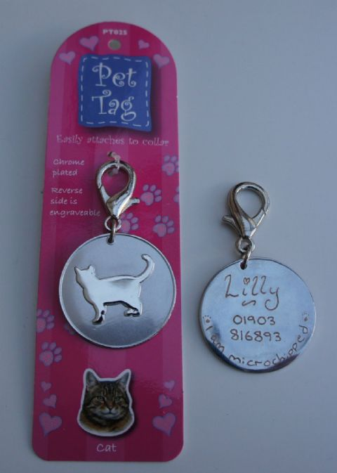 CAT ID TAG -  ENGRAVED FREE